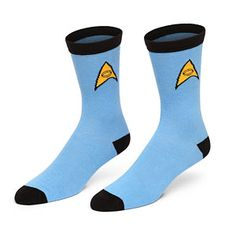Officially Licensed Star Trek Socks  (You get a set of 3 - Command Gold, Operations Red, Science Blue)