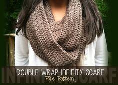 Double Wrap Infinity Scarf free crochet pattern crochet scarv