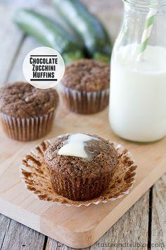 Chocolate Zucchini Muffins | Taste and Tell