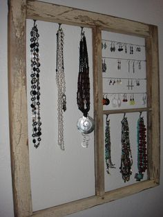 window frame jewelry hanger