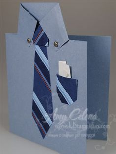Folded Shirt Card, just in time for Father's Day!