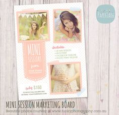 Photography Marketing board Mini Sessions by PaperLarkDesigns, $8.00 ...: www.pinterest.com/jennjenn21/design-posters-advertising