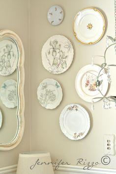 pretty plate wall