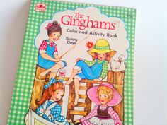 Vintage Coloring Book The Ginghams Whitman Color & Activity Book 1970s. $8.99, via Etsy.