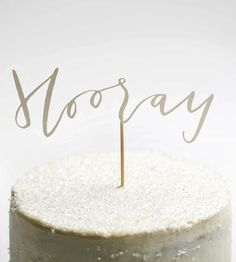 Hooray! Papercut Cake Topper by Yes Ma'am Paper & Goods