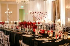black white, white weddings, red black
