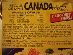 canada cornstarch shortbread