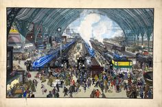 The British Scene: London railway terminus by Grace Golden  1939-1946  Catalogue reference: INF 3/1740