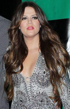 Khloe Kardashians super long curls
