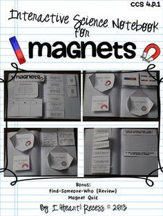 4.P.1 MAGNETS INTERACTIVE SCIENCE NOTEBOOK  MORE - TeachersPayTeachers.com