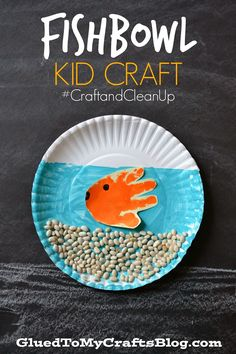 fishbowl kid, kid crafts, handprint craft
