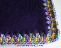 Crochet edge on fleece blanket.Great for Project Linus donations!