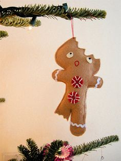 Half Eaten Gingerbread Man..and Many More Ornament Ideas