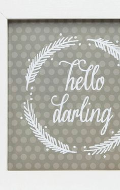 Craft this adorable Hello Darling wall art with our simple tutorial. | home decor | shop supplies @joannstores