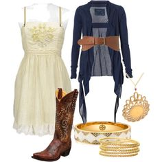 26 ways to wear cowboy boots! These outfits would be so cute for summer..
