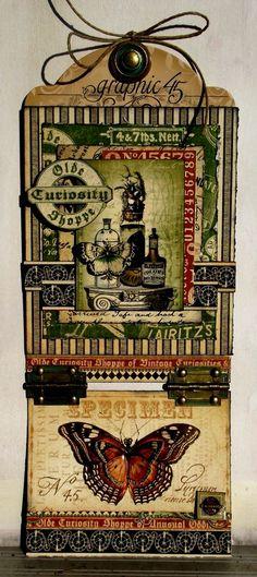 Olde Curiosity Shoppe tag by @Tara Orr ! Stunning! #tags #graphic45 #oldecuriosityshoppe