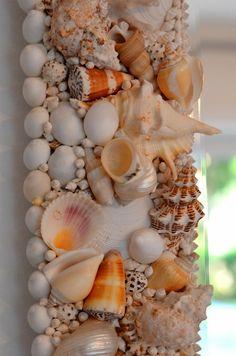 shell mirror frame detail...