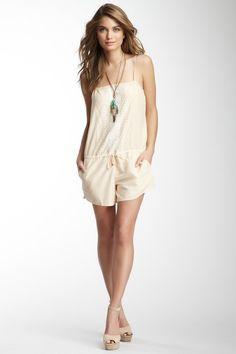 hautelook, fashion, trim romper, style, cloth, rompers, embroid trim, closet, beach cover