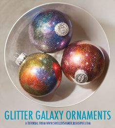 Instructions:  Glitter Ornament DIY