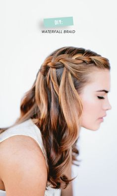 Waterfall Braid -- How To Here: http://www.StyleMePretty.com/living/2014/04/10/diy-waterfall-braid/  Photography: OurLaborOfLove.com