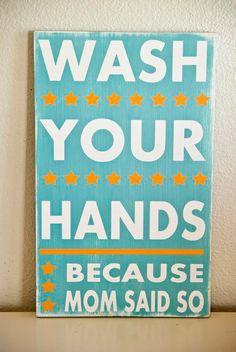 "typography art ""wash your hands"""