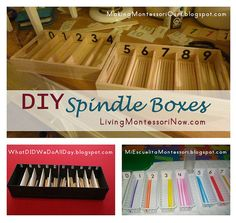 tuto de boîtes à fuseaux (Montessori) DIY Spindle Boxes by Deb Chitwood, via Flickr