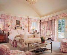 Pink romantic bedroom