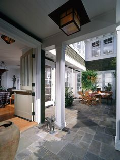 Outdoor porch surface,  Traditional Colonial Homes Exterior Design, Pictures, Remodel, Decor and Ideas - page 165