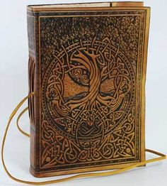 Ancient Witchcraft Grimoires | Tree of Life Leather Blank Book ~