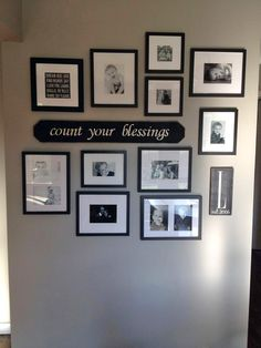 Count Your Blessings 3ft Custom Sign on Gallery Wall - #signsbyandrea #customwoodsigns #reclaimedwood #countyourblessings