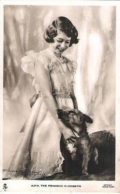 A young Queen Elizabeth and friend