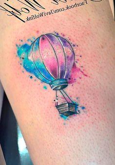 Воздушный шар как тату