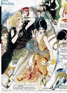 Nell Brinkley nell brinkley, fashion, bachelorette parties, brinkley girl, flapper, hairstyl, vintage art, art deco, illustr