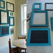 Interchangeable Children's Art Display Frames - right hand side of tv cabinet, this is so cute!