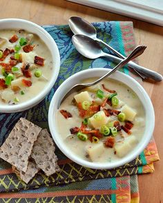Recipe: Baked potato soup with bacon, green onion and cheddar cheese
