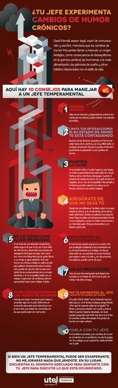 ¿Tu jefe experimenta cambios de humor crónicos? #infografia