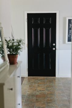 high gloss black door. love