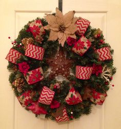 Country chic Christmas wreath