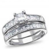 14K White Gold 1 1/2 CTW Diamond Bridal Set, H/I, SI2