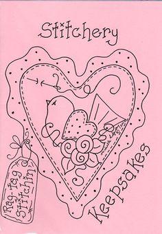 Stitchery Keepsakes - a Collection of Heartfelt Stitcheries from Michelle Ridgway - Rag Tag Stitchin