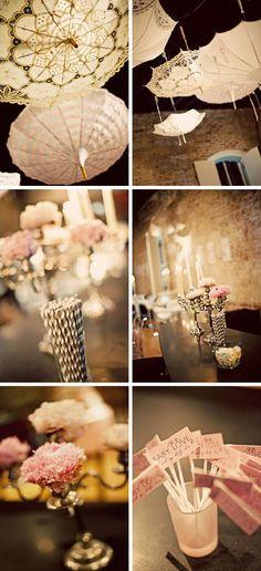 umbrellas, blush weddings, vintage weddings, pale pink, blush pink, babi shower, parti, baby showers, bridal showers