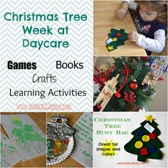 Mamas Like Me: #Christmas Tree Week at Daycare - full of books, crafts, and activities for #Preschool and #Toddlers