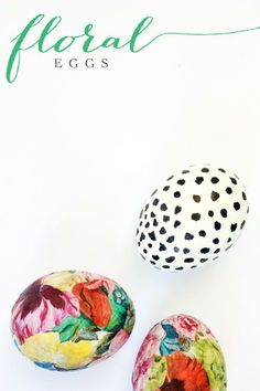 Floral & Spotted Easter Eggs Tutorial