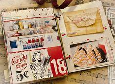 Daily art journal scrapbook journal: Idea from http://www.tumblr.com/dashboard/9/2392781921
