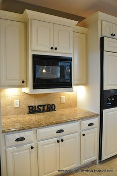 Inspiration: white cabinets  bronze hardware... love this for my kitchen