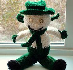 Crochet Geek - Free Instructions and Patterns: Crochet Snow Leprechaun