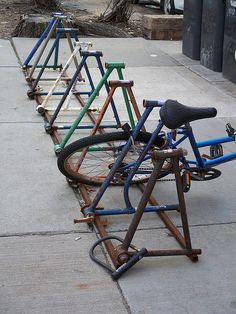 Recycled bike rack