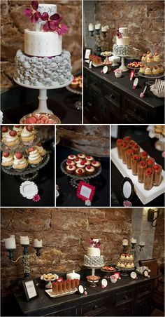 vintage desert table for weddings
