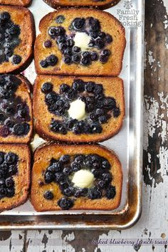 Baked Blueberry French Toast *use gluten free bread