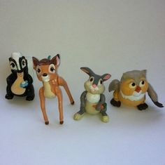 classic 80's toys   Vintage 80s BAMBI Mcdonalds Pvc Toys Set   Growing up in the 80's & 9 ...